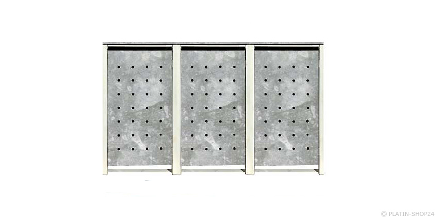 3er 240l metall m lltonnenbox m llbox m lltonnenschrank m llschrank zink neu ebay. Black Bedroom Furniture Sets. Home Design Ideas