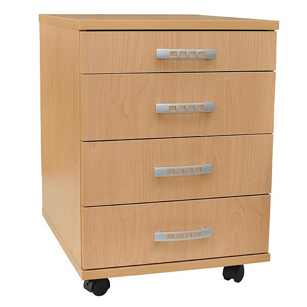 b rocontainer rollcontainer 4 schubladen beistellschrank rollwagen b rowagen neu ebay. Black Bedroom Furniture Sets. Home Design Ideas